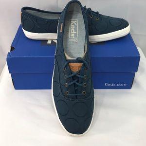 Keds circle jacquard 7.5 dark teal shoes